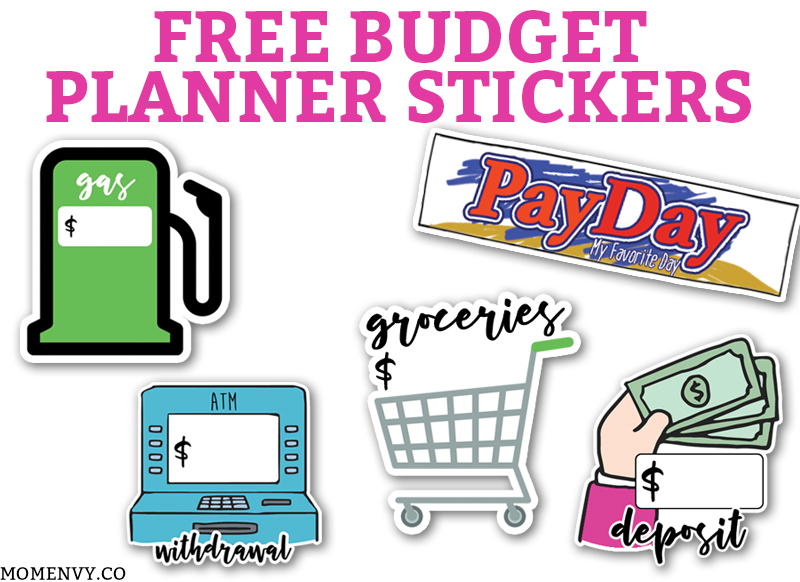 free budget planner stickers 11 printable pages of budgeting stickers