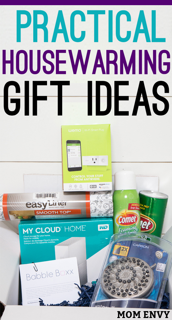 Practical housewarming gifts are better than your traditional gifts. #ad Step away from the houseplant or wine and stand out with a unique gift. Check out reviews on 5 great new home products, the My Cloud Home, Comet® Bleach Powder and Foaming Bath Spray, Smooth Top® Easy Liner® Brand Shelf Liner, The Waterpik PowerPulse Massage®, or the Wemo Mini Wi-Fi Smart Plug. #NewHomeownersBBxx #housewarming #giftideas #houseproducts