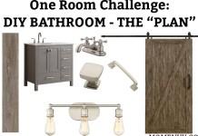 DIY Bathroom Ideas - modern farmhouse bathroom ideas. Check out some simple ideas to create a farmhouse style bathroom. #farmhousestyle #bathroom #diy