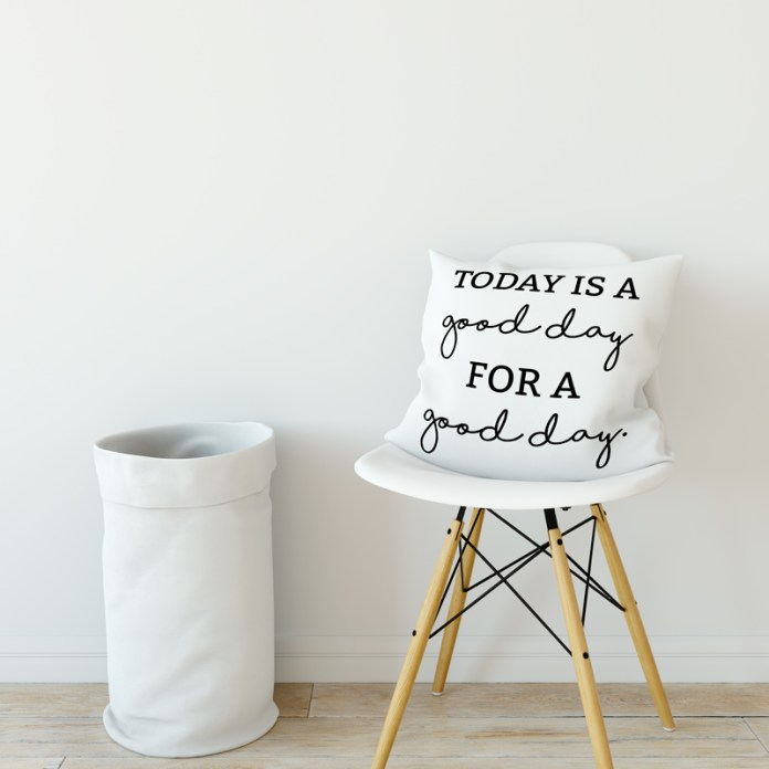 Farmhouse Printables Today is a Good Day for a Good Day FREE SVG and Silhouette file. Make your own pillows, wood signs, shirts, and more with the versatile SVG and Silhouette files. #farmhousestyle #fixerupper #freesvg #silhouette