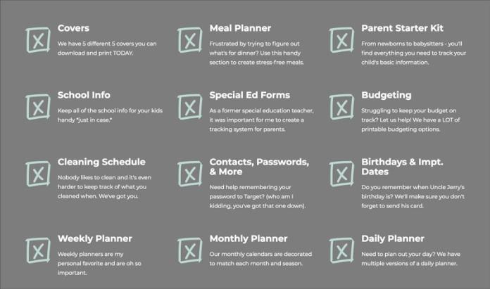 Home Organization Printables - Free Printable Home Organization Worksheets to get your life organized.