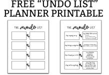 "Free printable ""undo"" list. Download this free planner printable and get your bad habits under control this year. Work on all of the bad habits you want to break with this free planner printable. #plannerprintables #happyplanner #bujo"