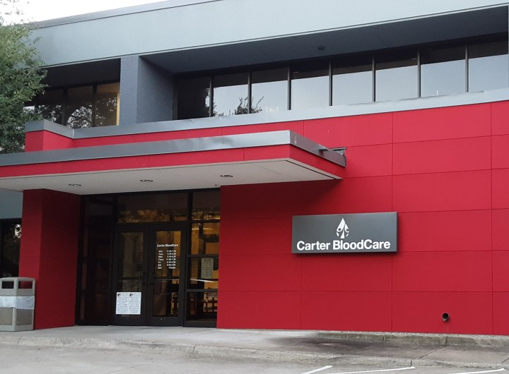 Carter BloodCare Entrance and sign