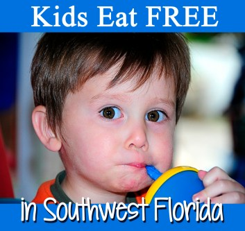 A huge list of restaurants where kids can eat for free or at a discount in southwest Florida!
