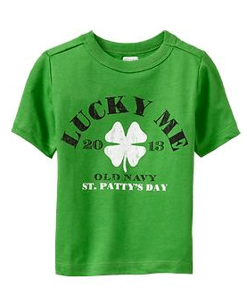 """Old Navy """"Lucky Me"""" St. Patrick's Day Tees 12months - 5T  $5.00"""