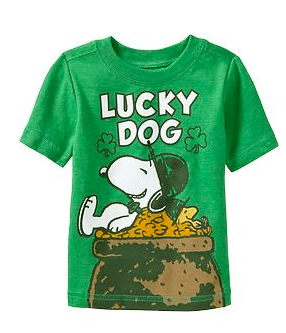 """Old Navy Snoopy® """"Lucky Dog"""" Tees 12 months - 5T Cost $7.99"""