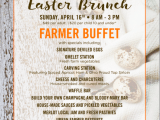 Easter Brunch on Sunday, April 16th at Urban Farmer Cleveland