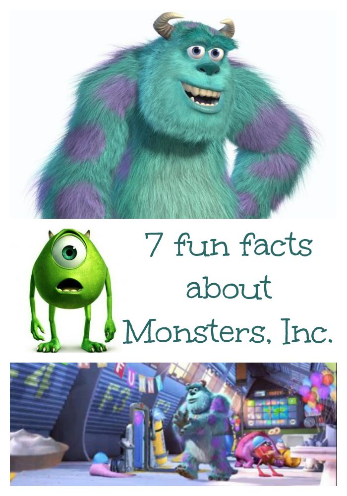 7 Fun facts about Monsters, Inc  - Between Us Parents