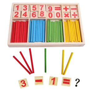 Wooden Number Cards and Counting Rods