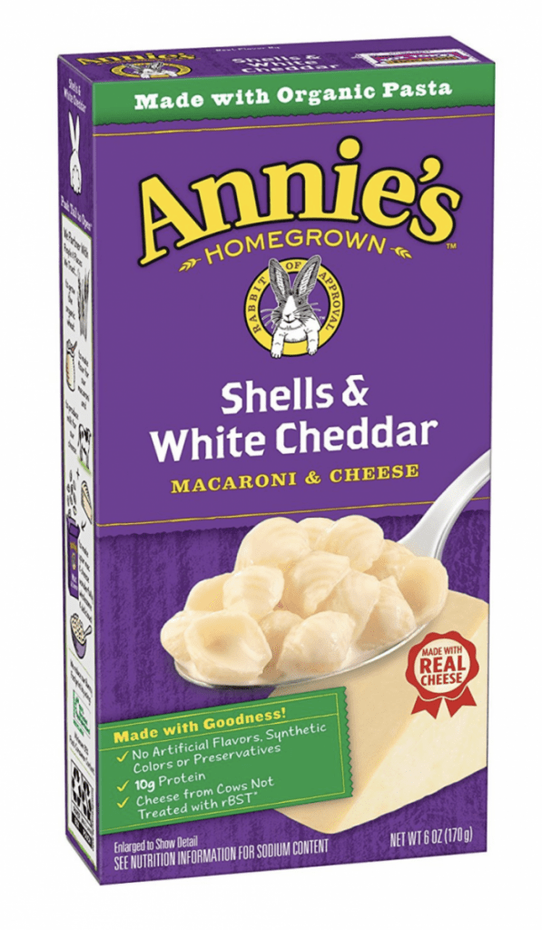Annie's Shells and White Cheddar Cheese