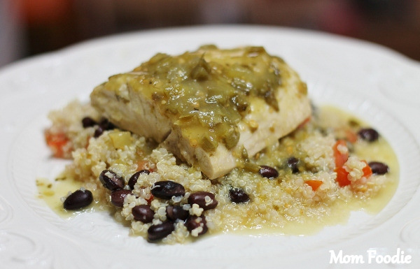 salsa verde fish recipe cooked on grill