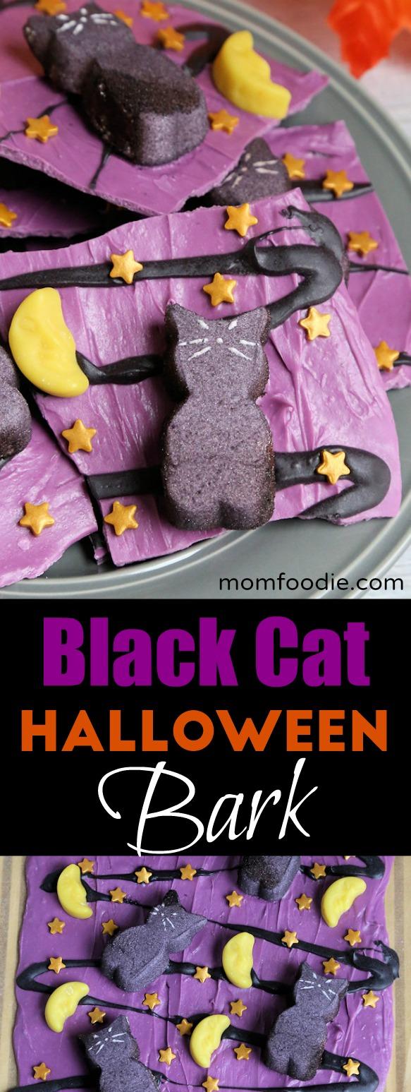 Black Cat Halloween Bark Recipe