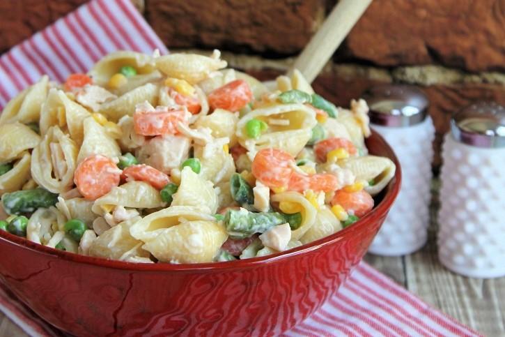 Chicken Dinner Pasta Salad recipe