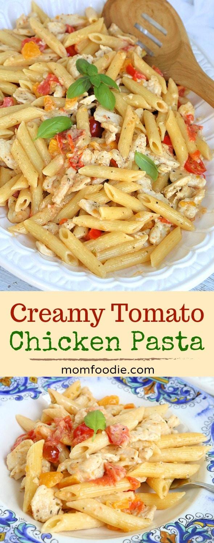 Creamy Heirloom Tomato Chicken Pasta