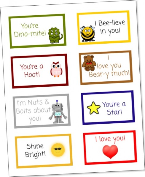 Free Printable Lunch Box Notes for Bento Box