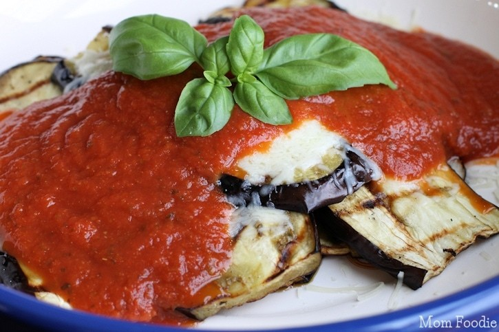 Eggplant Parmesan low carb marinara sauce