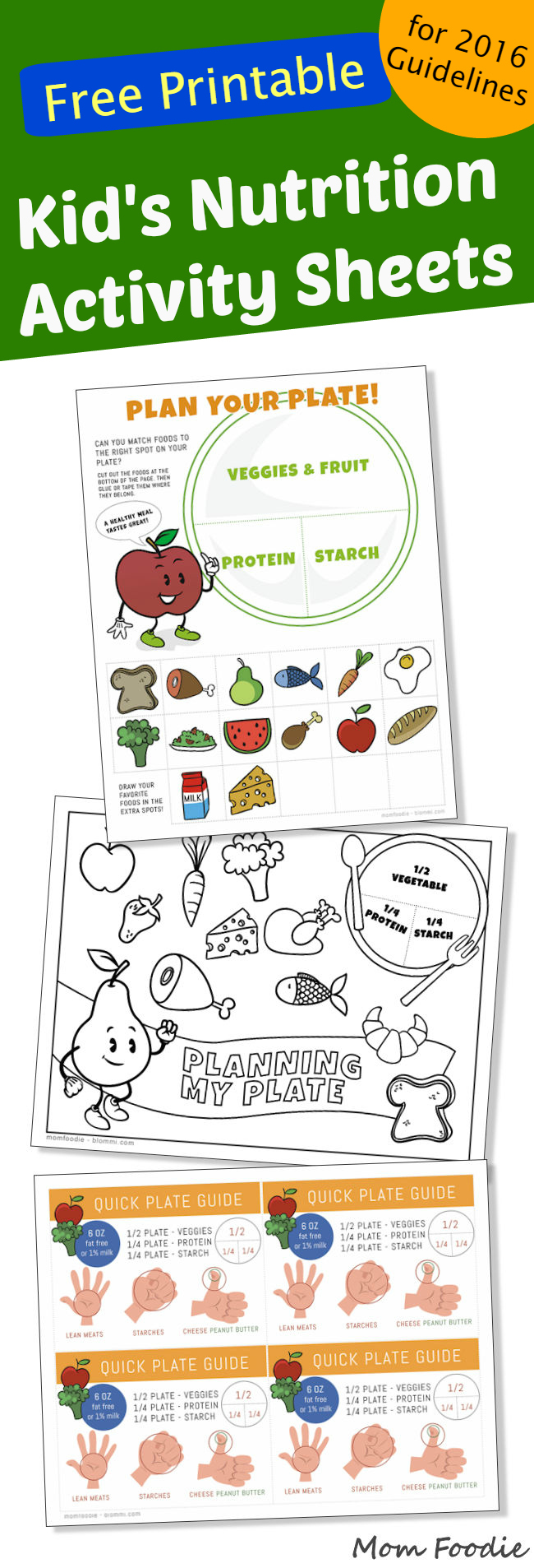 Kids Nutrition Activity Sheets 2016