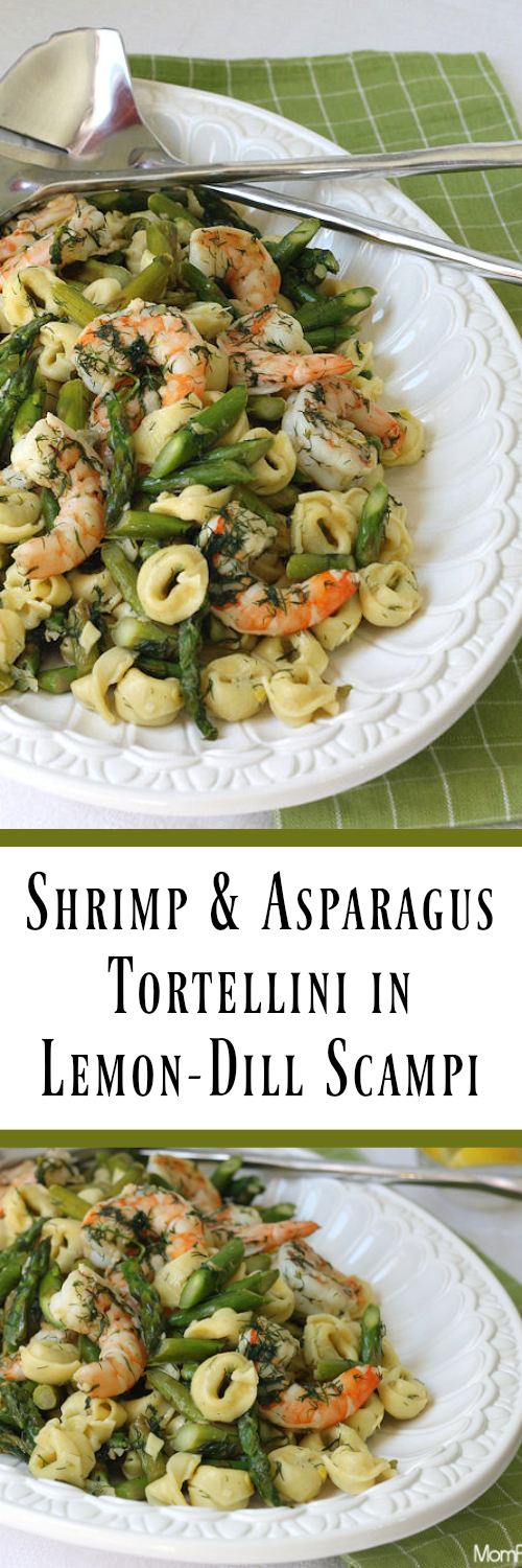 Shrimp Asparagus Tortellini In Lemon Dill Scampi Easy Recipe Mom Foodie