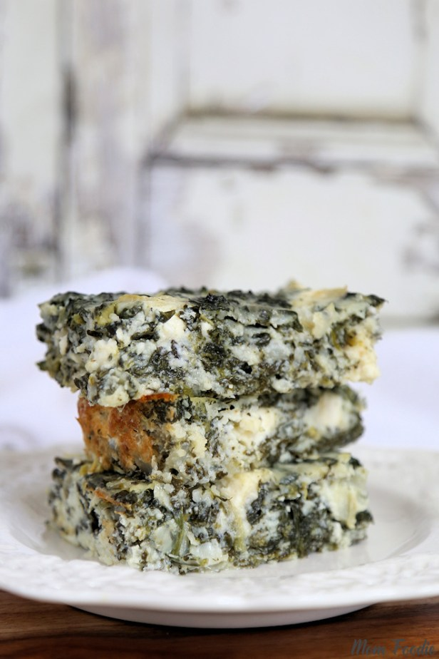 Spanakopita Cottage Cheese Casserole Low Carb