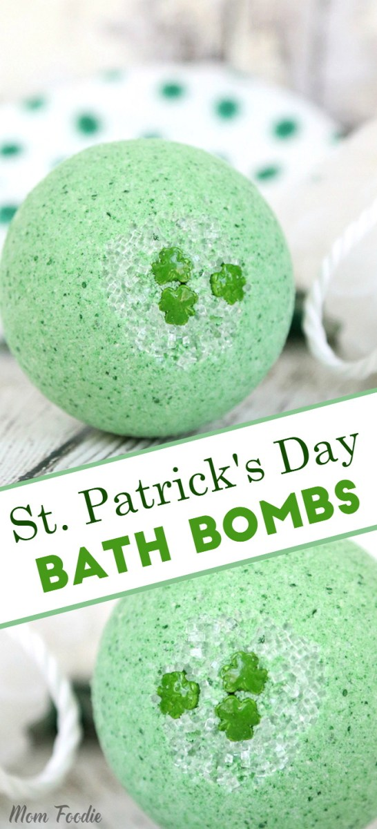 St. Patrick's Day Bath Bombs - A fun St. Patrick's Day craft for the bath.