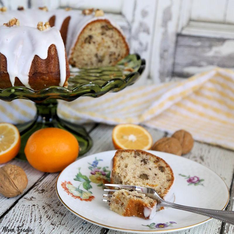 Meyer Lemon Walnut Cake