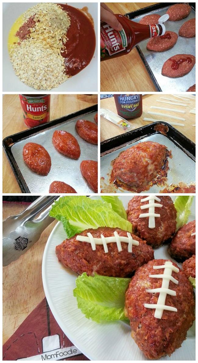 football mini meatloaves