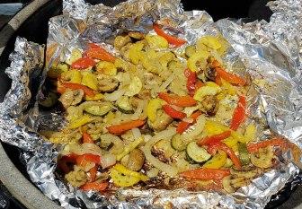 grilled pesto vegetables