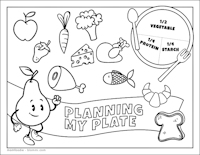 nutrition coloring page pdf