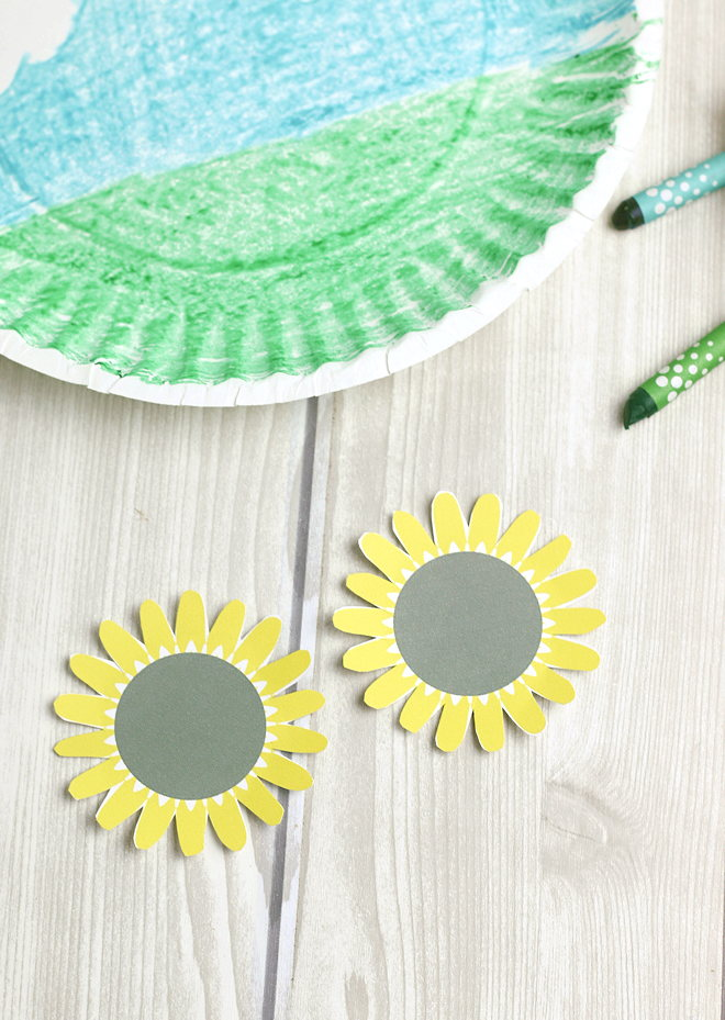 Make one or a bunch and put them on display! Paper Plate Sunflower Craft For Kids Growing Sunflower Craft