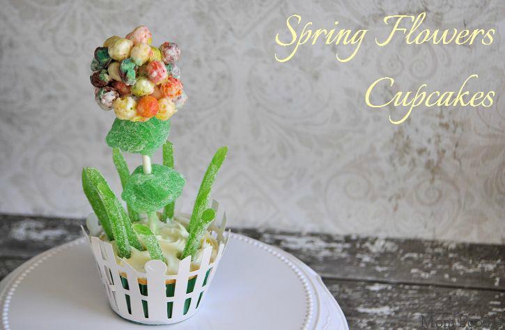trix flower cupcakes