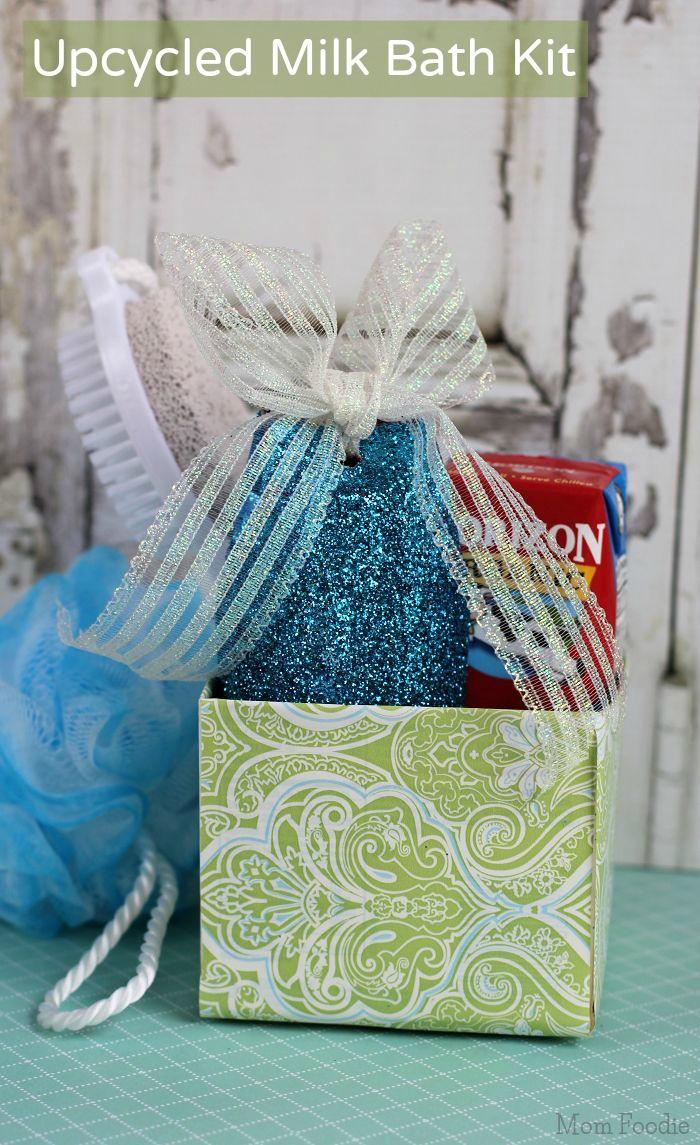 Upcycled Milk Bath Kit - DIY Gift for Mom