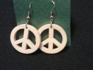 Peace Earrings by Gramcracker Designs