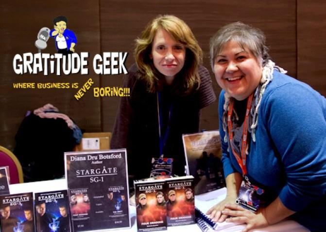 Diana Botsford and Kandas Rodarte at Space City Con