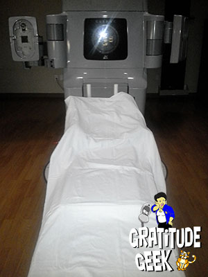 Coping with emotions during radiation therapy takes imagination and humor.