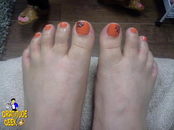 Orange Toes For Halloween