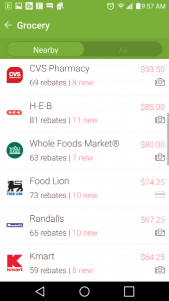 Use Ibotta at most major super market chains.