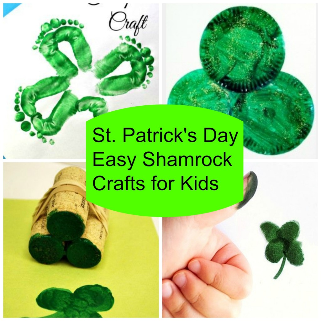 5 Easy Shamrock St Patrick S Day Crafts For Kids