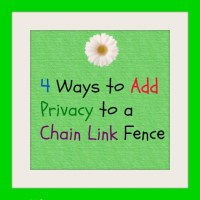 Privacy for a Chain Link Fence