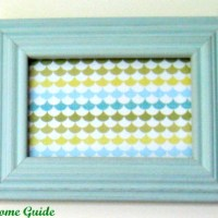 Framed Scrapbook Paper Art