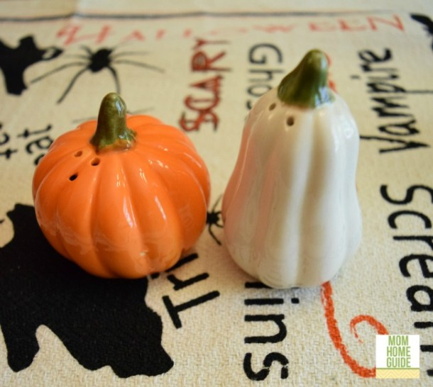 Autumn pumpkin and squash salt and pepper shakers