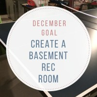 Making a Basement Rec Room {12 Months of Goals} #DonateStuffCreateJobs