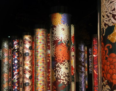Showcasing traditional kimono patterns