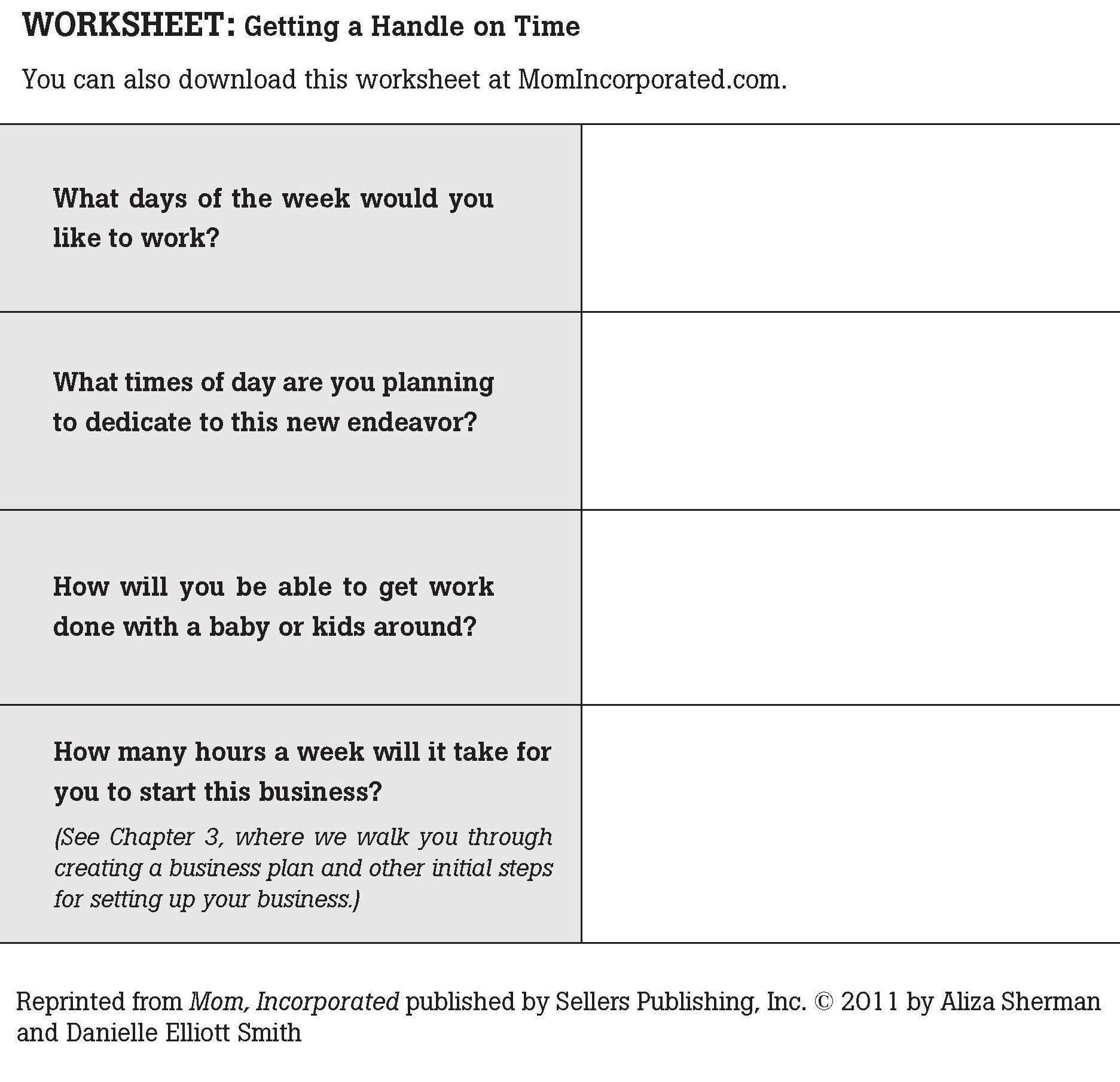 Business Responsibility Worksheet