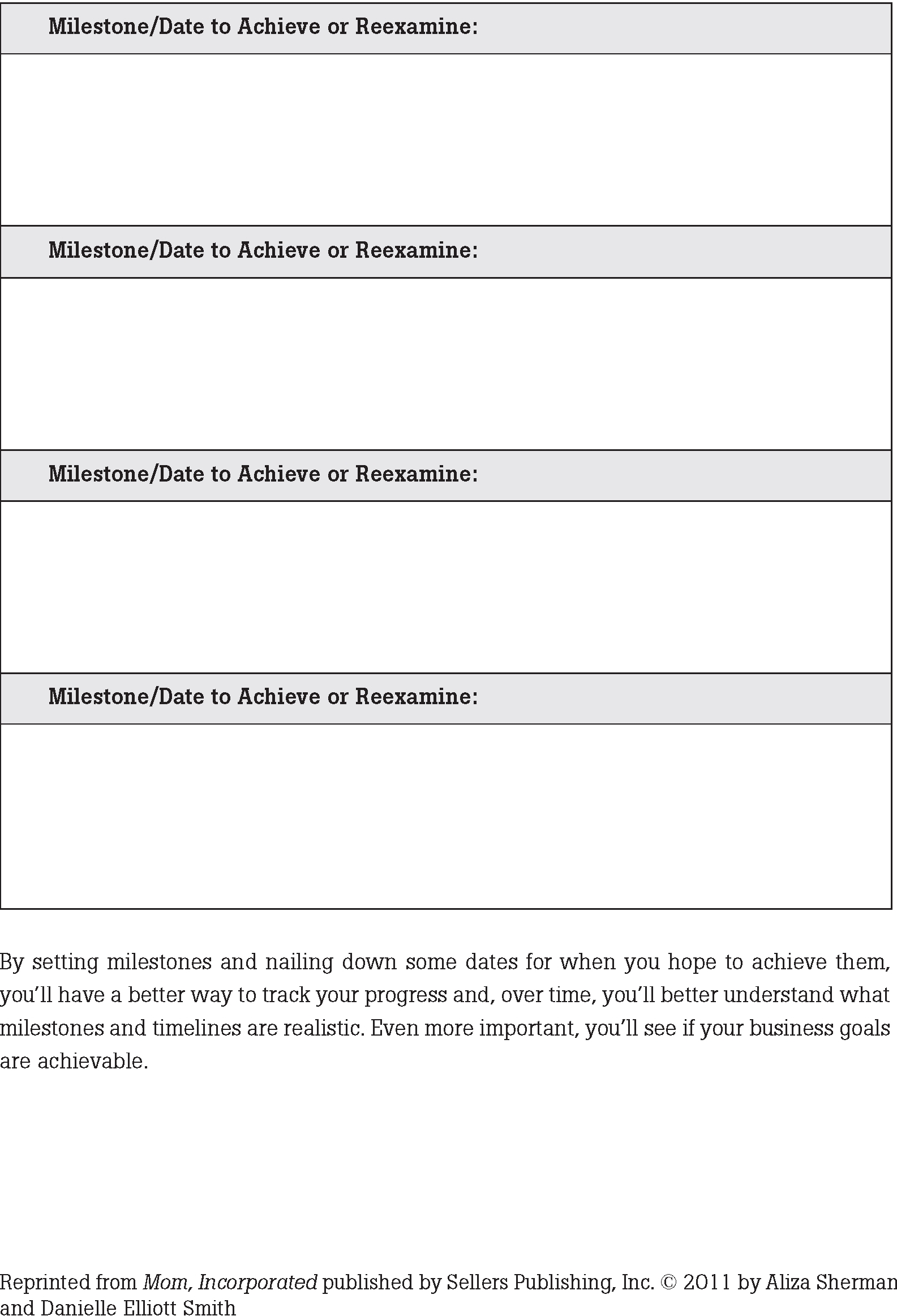 Worksheets No 5 Amp 6 Goals And Milestones
