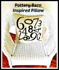 Pottery Barn Inspired Number Pillow