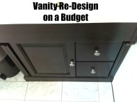 Vanity Re-Design with Java Gel Stain
