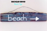 Recycled Wood Beach Sign