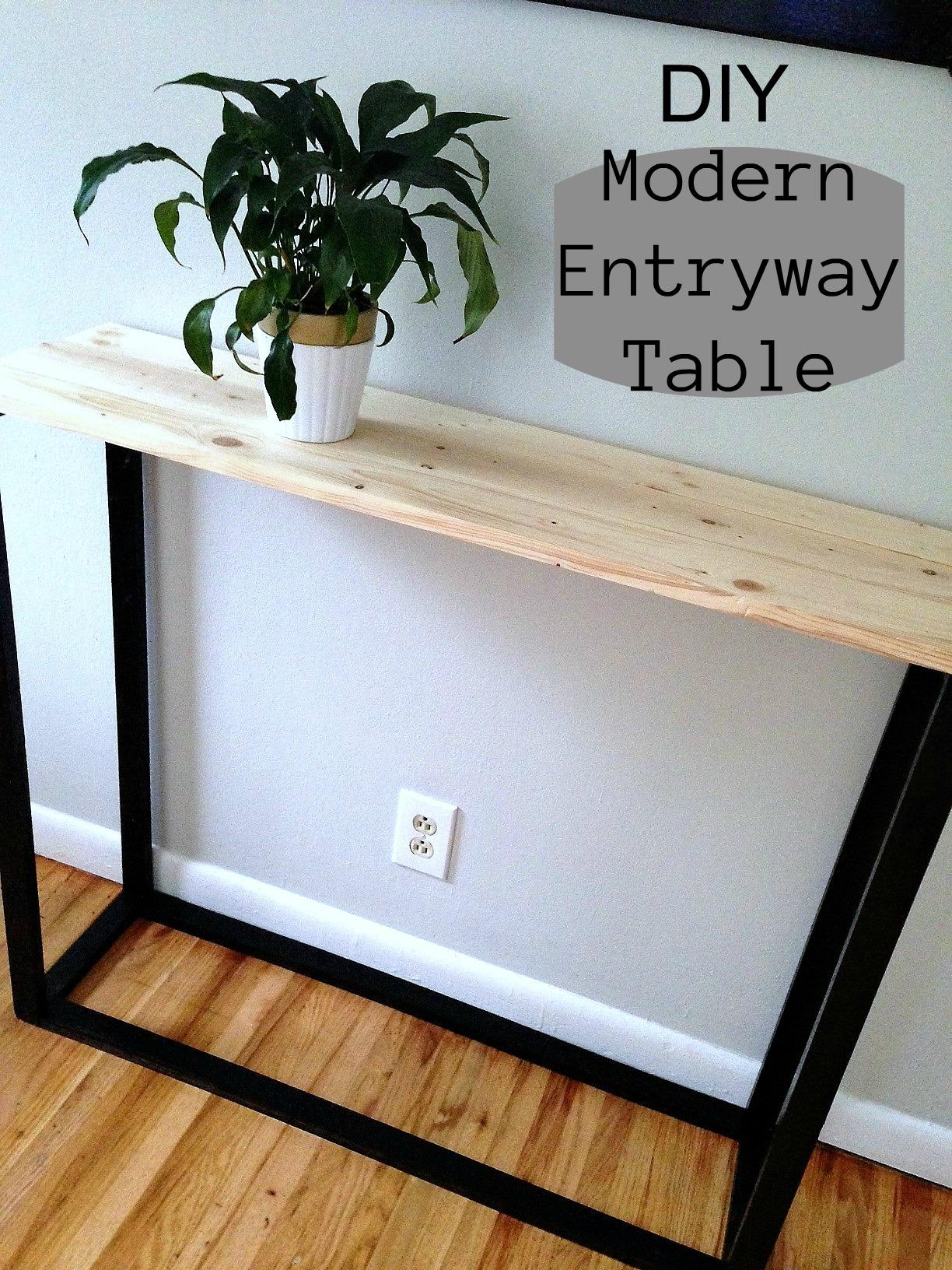 diy modern entryway table