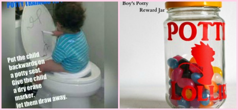 7 Genius Potty Training Hacks And Tips To Save Your Sanity graphic