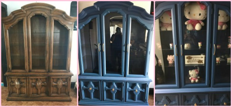China Hutch Makeover graphic
